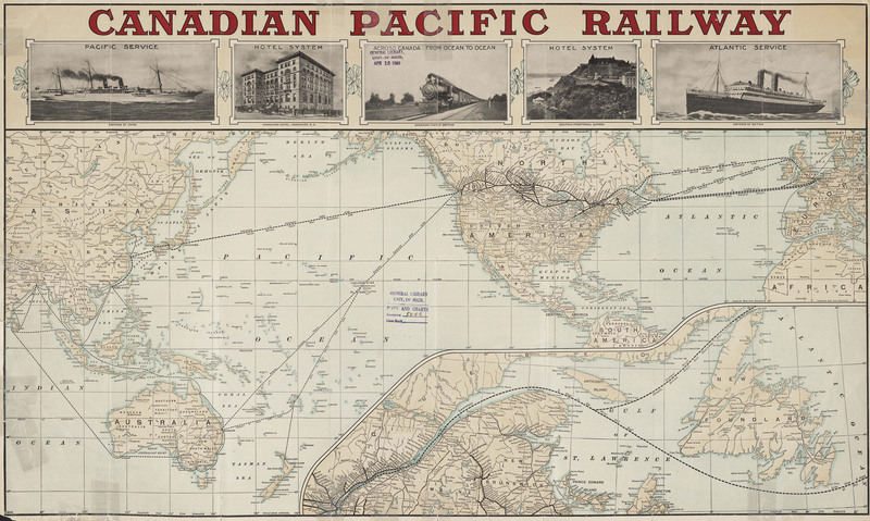 Around the world - Canadian Pacific route