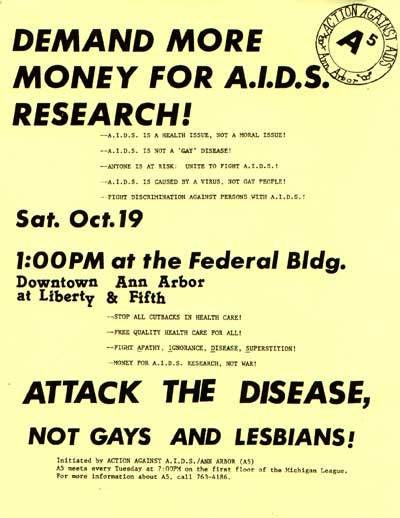 Action Against AIDS Ann Arbor Flyer