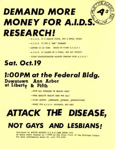Action Against AIDS Ann Arbor Flyer