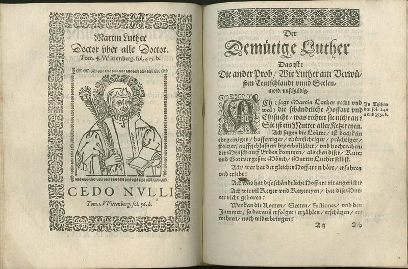 Der demütige Luther das ist: Die ander Prob unnd Weysung wie Doctor Martin Luther an der Verwüstung und Jammer Teutscher Nation sich selber am Jüngsten Tag entschuldigen werde