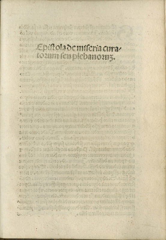 <em>Epistola de miseria curatorum seu plebanorum</em> /<em>Lavacrum conscientiae</em>