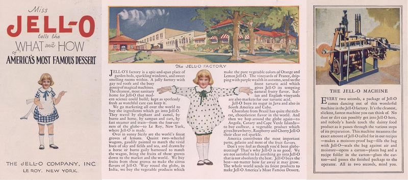 Miss Jell-O tells the what and how of America's most famous dessert (192-?); [recto]
