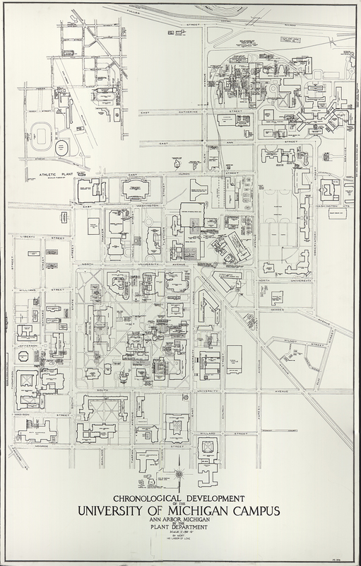 Chronological development of the University of Michigan campus, Ann Arbor, Michigan