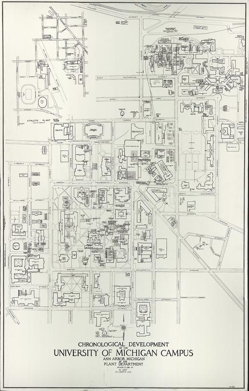 Chronological development of the University of Michigan campus, Ann Arbor, Michigan