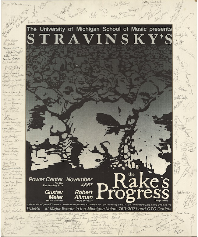 poster for the rakes progress 1982