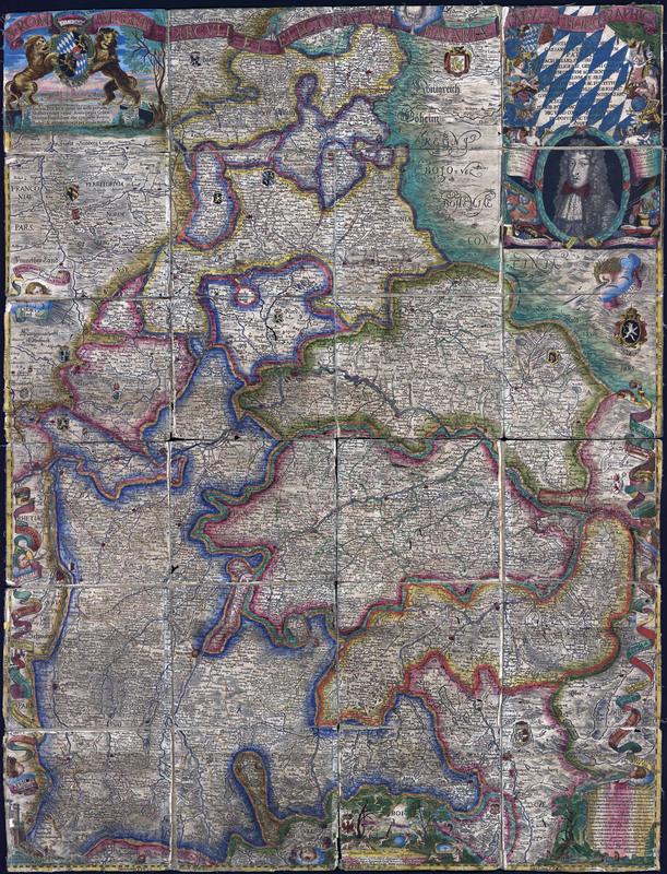 S. Rom. Imperii circuli et electoratus Bavariae tabula choragraphica