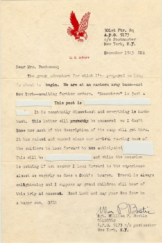 Bostic Letter