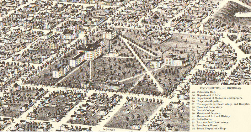 Excerpt from Panoramic view of the city of Ann Arbor, Washtenaw County, Michigan