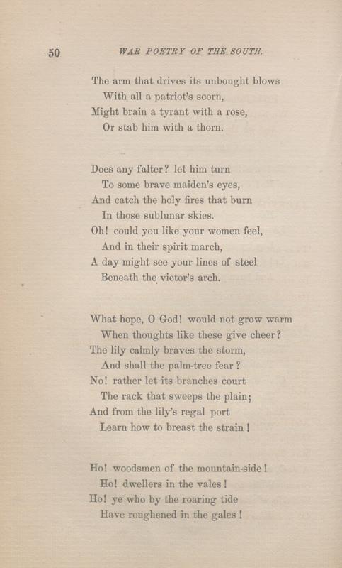 Page 50 of War Poetry of the South