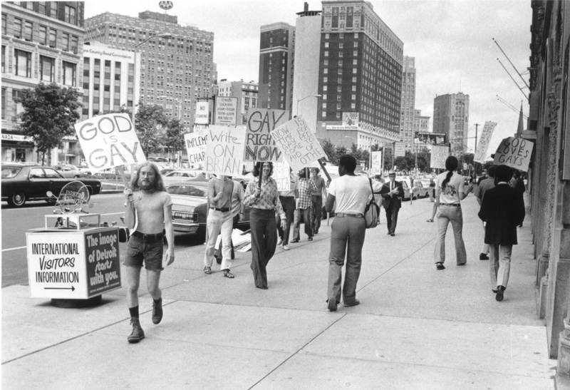 Gay Protest: Chancery Building in Detroit