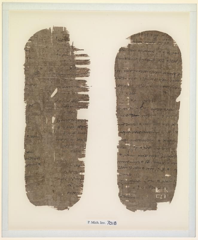 Documentary papyri from a mummy casing
