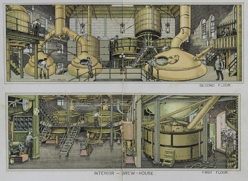 The Bergner & Engel Brewing Co., Philadelphia. (Interior -- Brew-House)