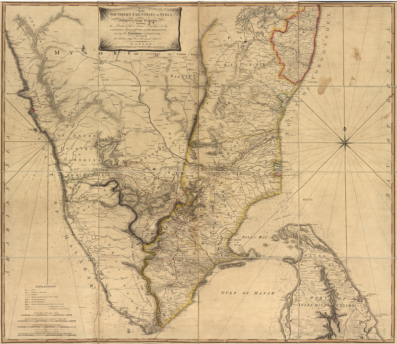 The southern countries of India from Madrass to Cape Comorin : describing the routes of the armies commanded by Colonels Fullerton and Humberston, during the campaigns of 1782, 1783 & 1784