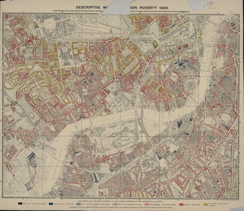 Descriptive map of London poverty - 2