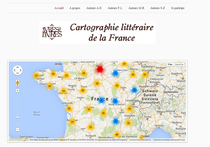 Literary Map of France (Cartographie littéraire de la France)