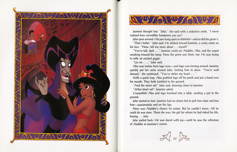 Pages 76-77 of Disney's Aladdin