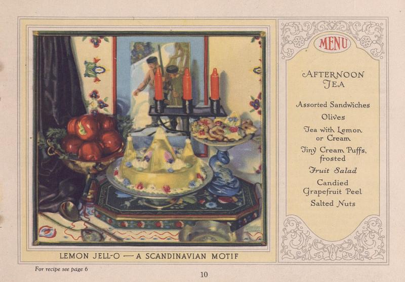 Jell-O, America's most famous dessert (1926); p. 10
