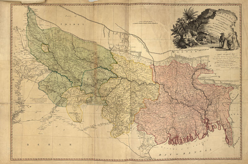A map of Bengal, Bahar, Oude & Allahabad : with part of Agra and Delhi, exhibiting the course of the Ganges from Hurdwar to the sea