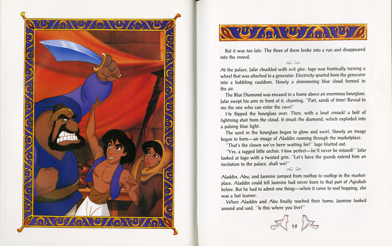 Pages 18-19 of Disney's Aladdin
