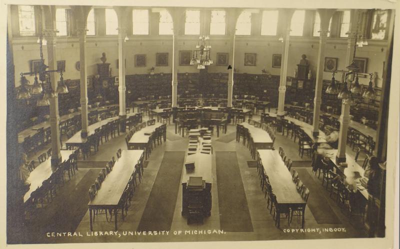 Reading Room 1913 Postcard
