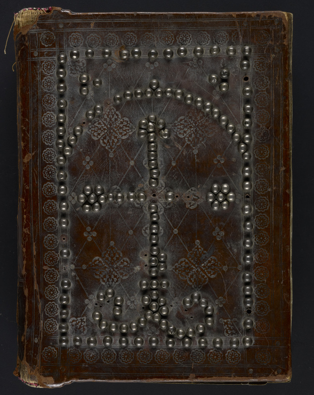 Seventeenth-century Armenian style binding covering <span>a manuscript of the Four Gospels</span><br /><span>Edessa, Mesopotamia, 1161</span>