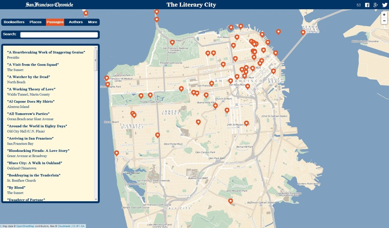 Bay Area Literary Map