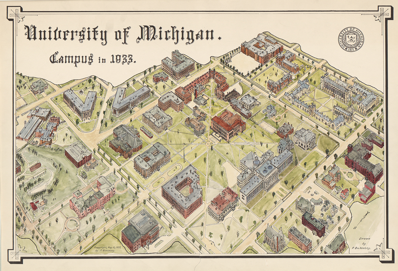University of Michigan: Campus in 1933