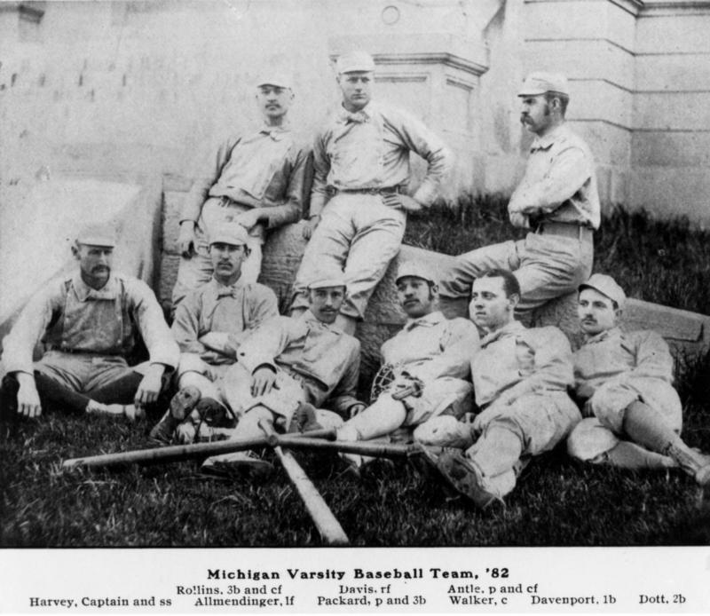 University of Michigan Baseball Team 1882