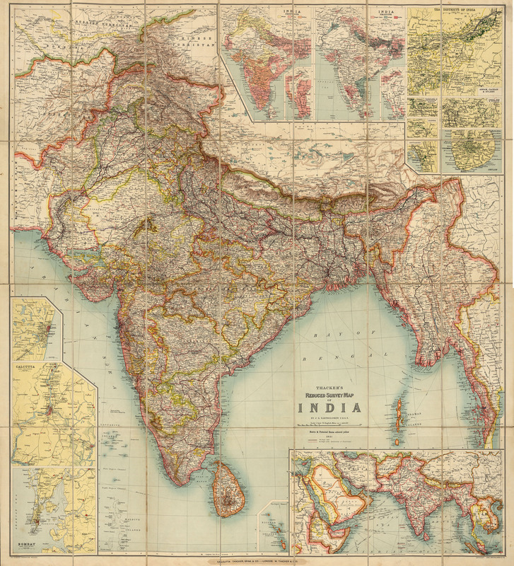 Thacker's reduced survey map of India