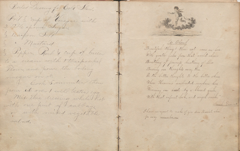 Pages 64-65 of Harriet Lester Autograph Album and Recipe Book