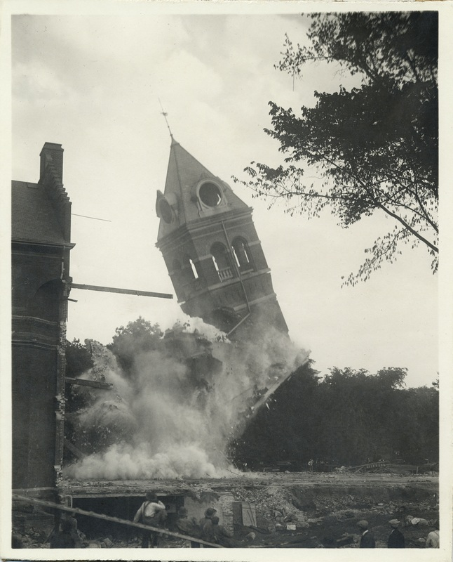 The Old Library Demolition of the Clock Tower