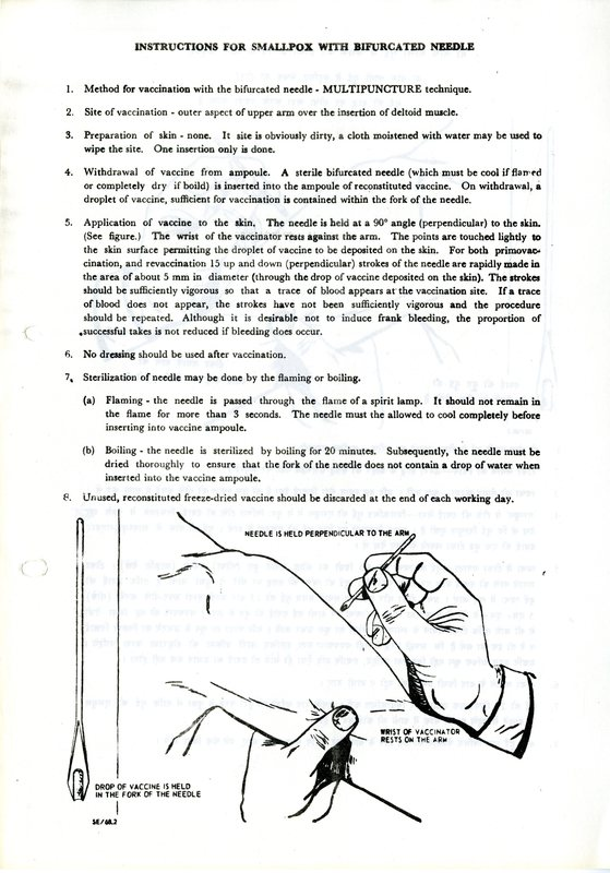 Vaccination Procedure using a bifurcated needle -- English version