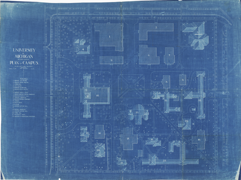 University of Michigan At Ann Arbor, Plan of Campus