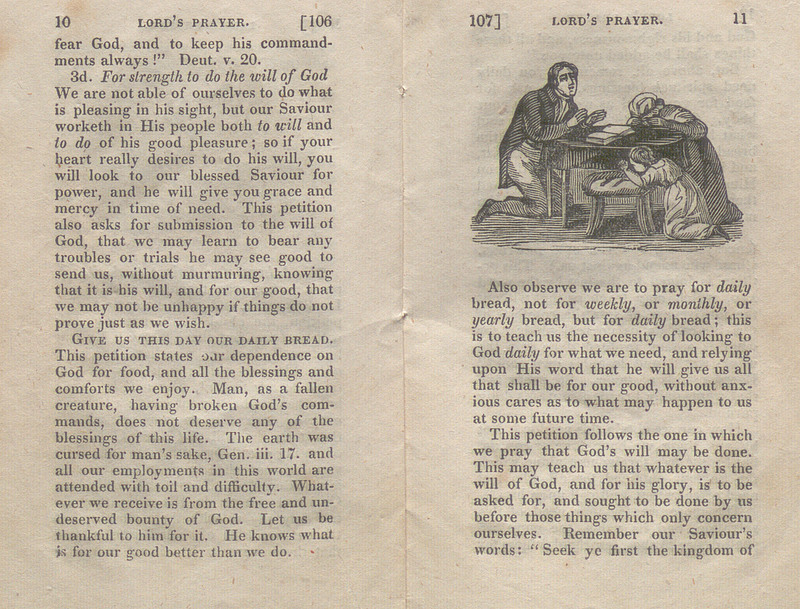 Pages 10-11 of The Lord's Prayer