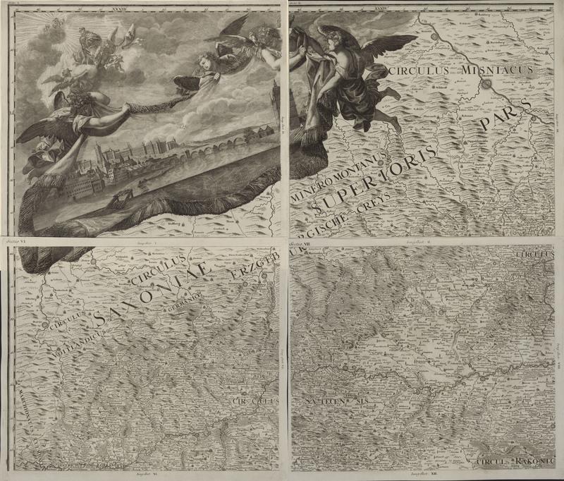 Mappa geographica Regni Bohemiae in duodecim circulos divisæ