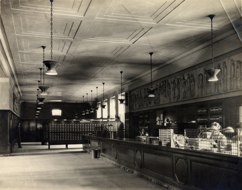 General Library, Circulation Desk, 1925