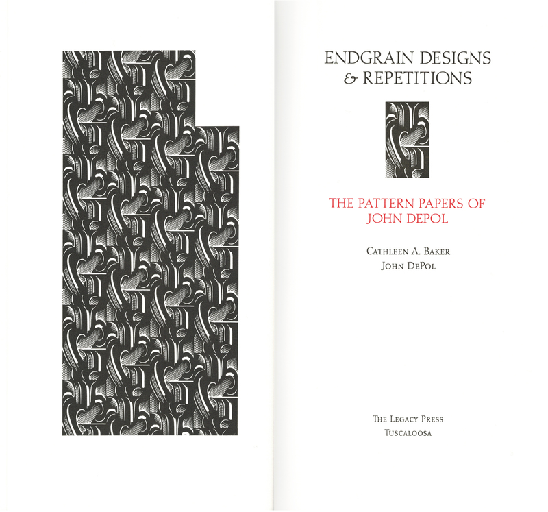 <em>Endgrain designs and repetitions : the pattern papers of John DePol</em>