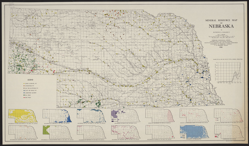 Mineral Resource Map of Nebraska