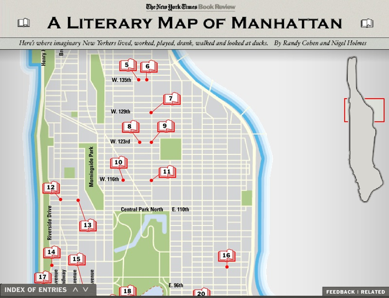 Interactive Literary Map of Manhattan