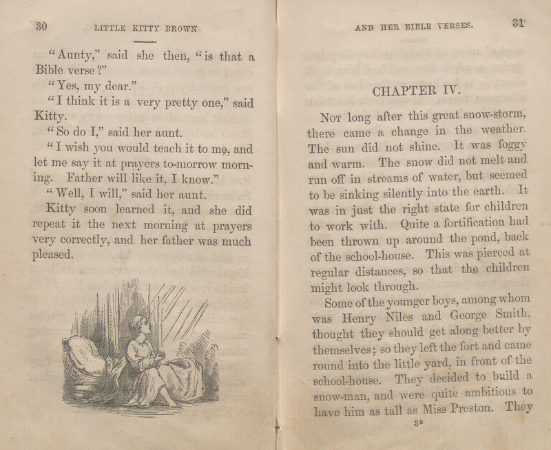 Pages 30-31 of Little Kitty Brown and Her Bible Verses