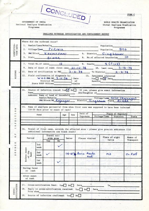 Singhbhum District file - 1975.