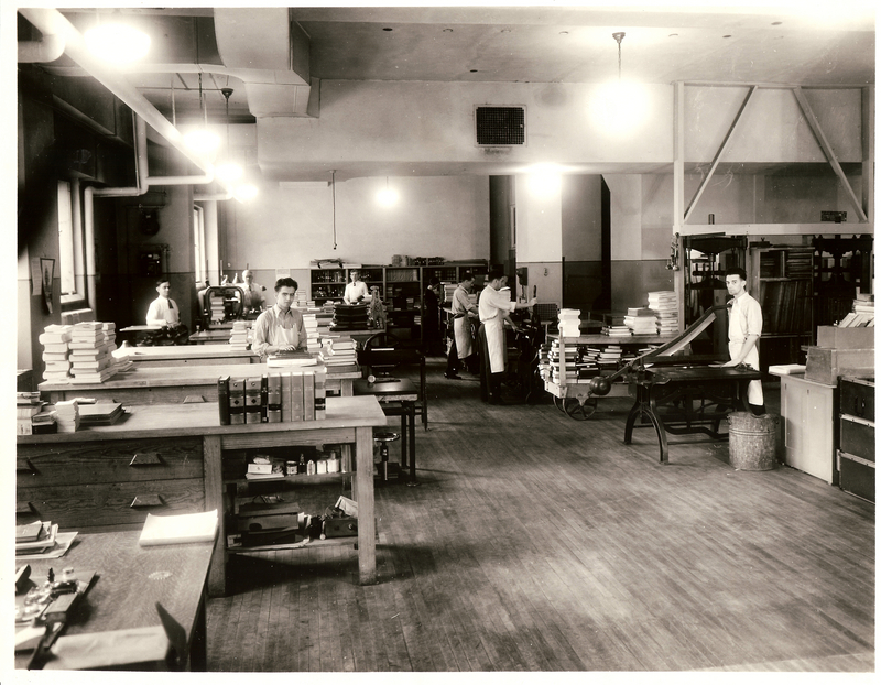 General Library, Bindery Department, December 1932