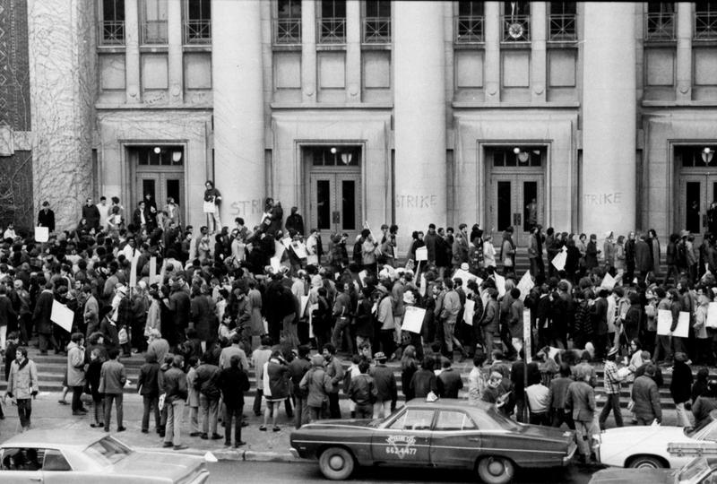 Demonstration at Hill Auditorium
