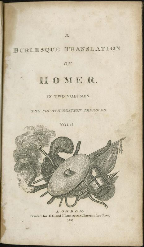A Burlesque Translation of Homer