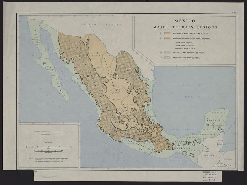 Mexico Major Terrain Regions