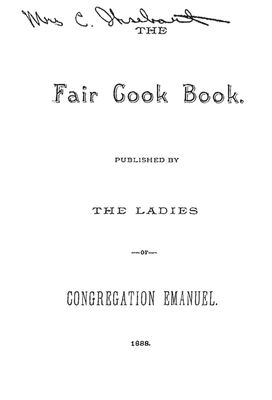 The Fair Cook Book