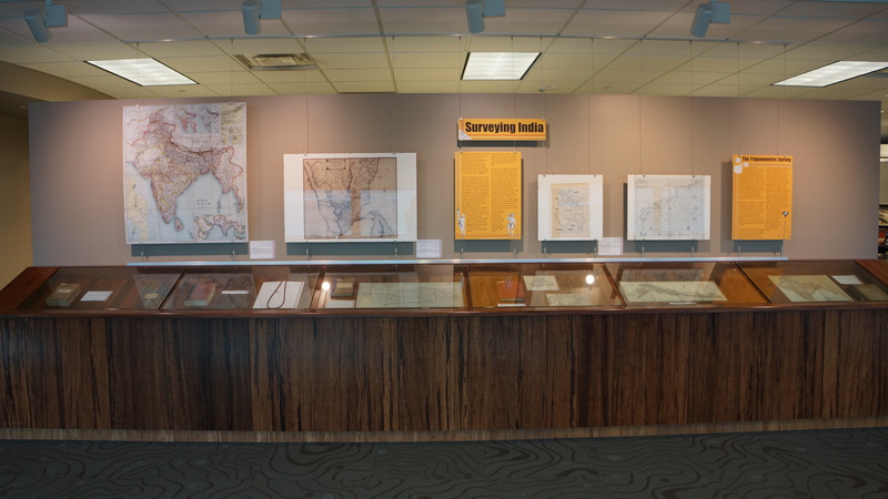 Surveying India Exhibit Section