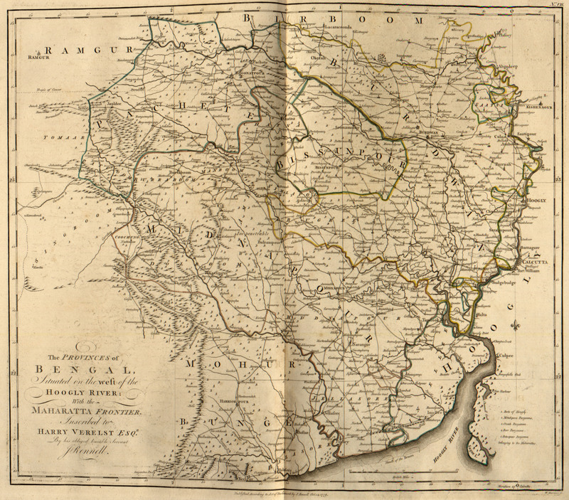 A Bengal atlas: containing maps of the theatre of war and commerce on that side of Hindostan