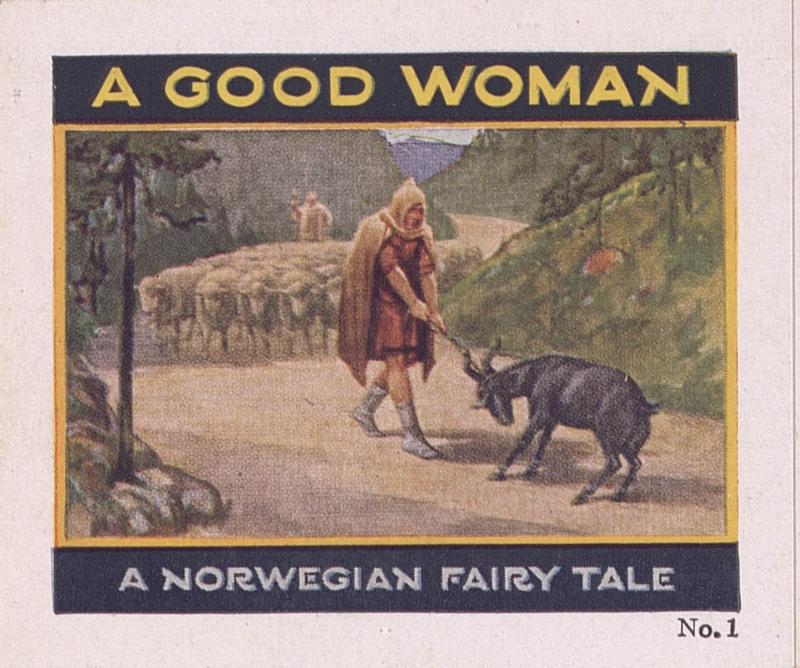 A good woman: a Norwegian fairy tale, no. 1 [Jell-O Recipe Brochures] (1928); p. [1]