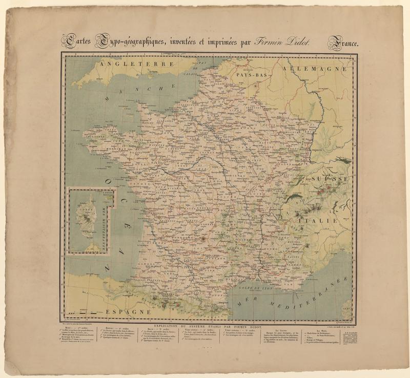 Cartes typo-geographiques, inventees et imprimees par Firmin Didot